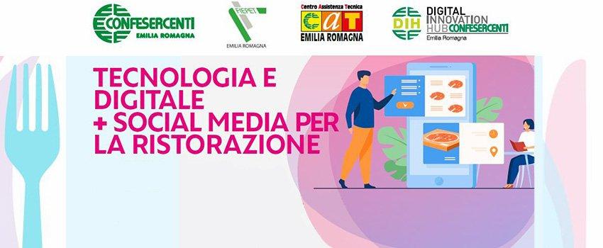 TECNOLOGIA E DIGITALE + SOCIAL MEDIA PER LA RISTORAZIONE