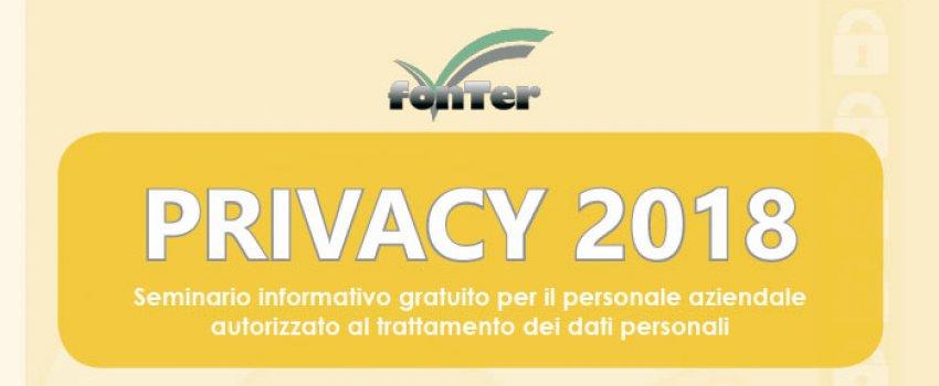 Privacy 2018: il nuovo GDPR